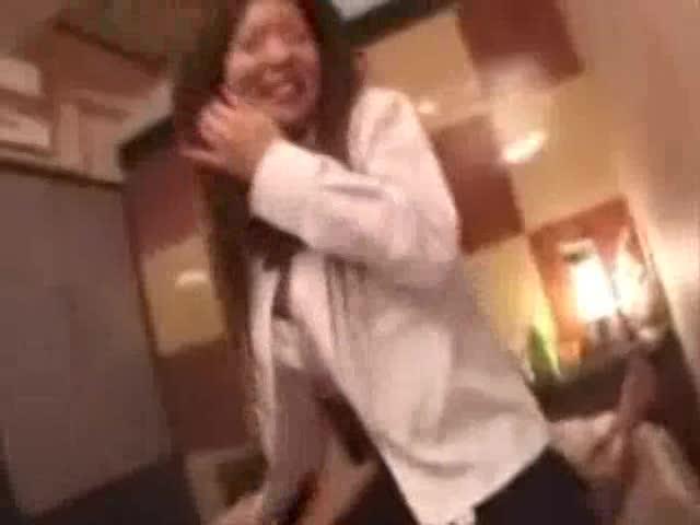 円光Gカップ制服娘ホテルで濃厚セックス撮影!!